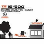 TR Industrial IS-500 42-Pound Demolition Jack Hammer with Anti-Vibration Design (Renewed)
