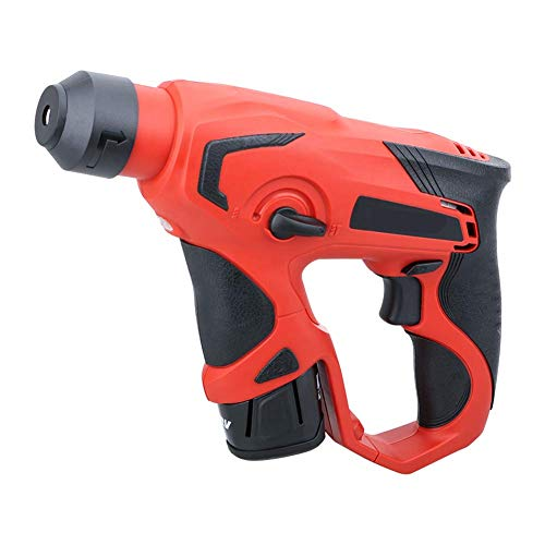 12V Light Cordless Rechargeable Rotary Hammer, Lithium-Ion Electric Hammer Impact Drill Multifunction Impact Drill LMMS
