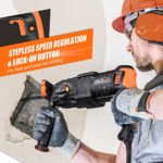 TACKLIFE 7.0 Amp Rotary Hammer Drill, 5 Functions in 1 Knob, 1-Inch SDS-Plus, 2.8J, 2 Variable Speeds 3200 RPM, 6000BPM, Safety Clutch, Ideal Power Drill for Concrete, Metal, Wood, Masonry – LRH01A