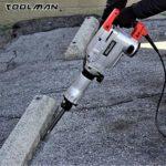 Toolman Electric Demolition Jack Hammer Chisel For Heavy Duty Concrete Breaker 14A with Point, Flat Shovel/Chisels bits works with Dewalt, Makita, HILTI, Hitachi, Bosch Accessories