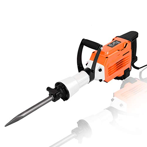 Yirise 3500W Electric Breaker Concrete Demolition Hammer Jackhammer Jack Drill Tool Kit For Demolition, Trenching, Chipping, Breaking Holes In Concrete-Block-Brick, Removing Foundation Concrete Slab