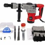 Nolonger 3800BPM Electric Demolition Jack Hammer Heavy Duty Concrete Breaker Drills Kit Power Tool Kit Trigger Lock with Carrying Case,Chisel Bit,Gloves and Removal tools