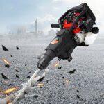 Gdrasuya10 32.7CC Gas Demolition Jack Hammer, 3 in 1 multifunction Electric Concrete Breaker Punch Drill Jackhammer