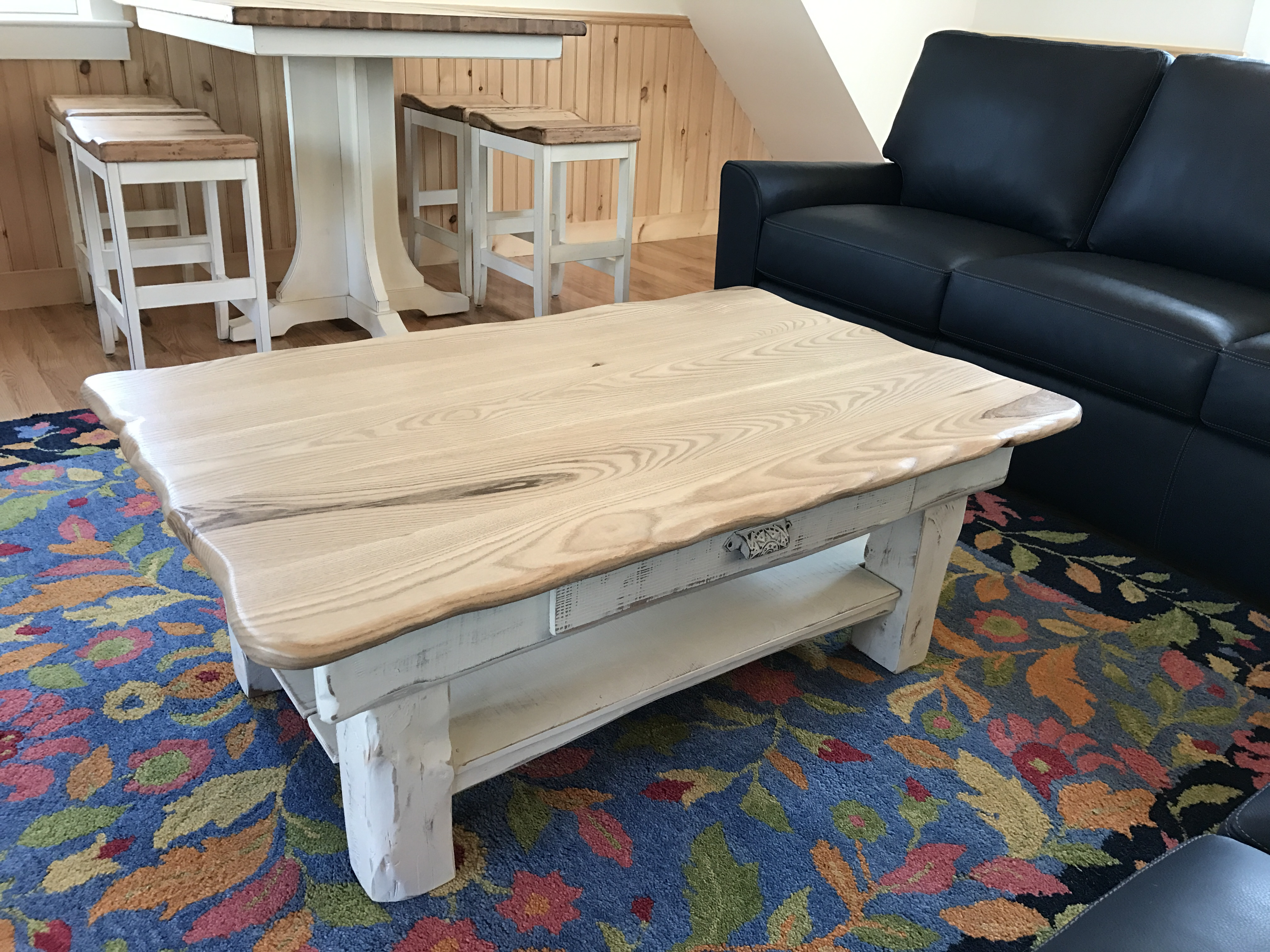 Tables desks 48x30 native sassafras coffee table antique whitewash base geotapseo Image collections