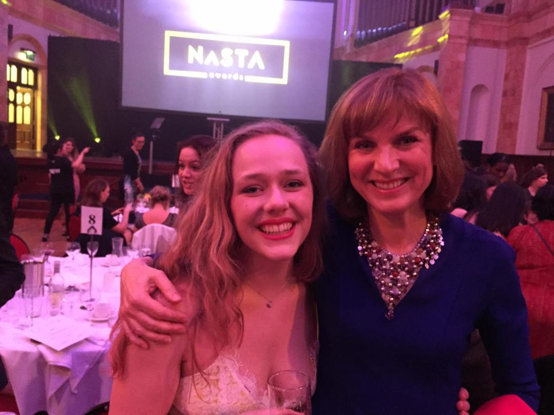 'Best On-Screen Female' Lydia George, with famed BBC Presenter Fiona Bruce.
