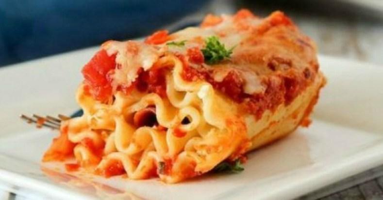 4. Lasagnes roulées au salami