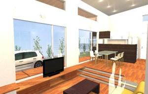 間取りデザイン07|自然豊かな敷地に建てる広がる空間