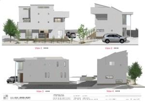 間取りデザイン06 スキップフロアーでプライバシーを持たせた二世帯住宅
