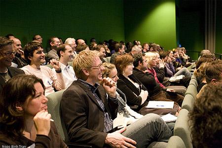 Het publiek tijdens het event