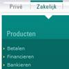 fragment van hoofd- en subnavigatie op ABNAMRO.nl