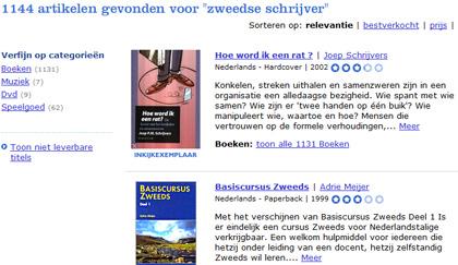 Zoekresultaat op Bol.com voor Zweedse schrijver