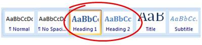 Opmaakstijlen in MS Word 2007