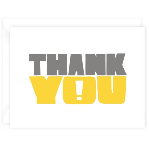 thank you card yellow