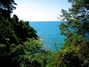 View from the restaurant at the entrance of Khao Lak-Lam Ru national park