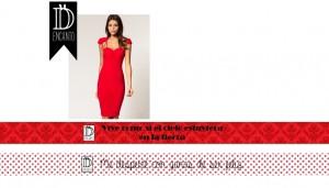 vestido rojo con pulseras roja dencanto