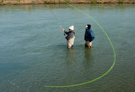 """""""Then you cast a little downstream, like they say on the Deneki blog."""" Photo: Cameron Miller"""
