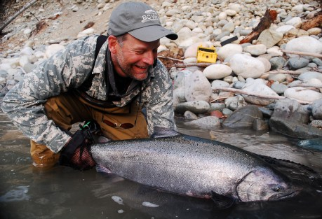 See that look on Dana's face?  He's caught an awful lot of steelhead...