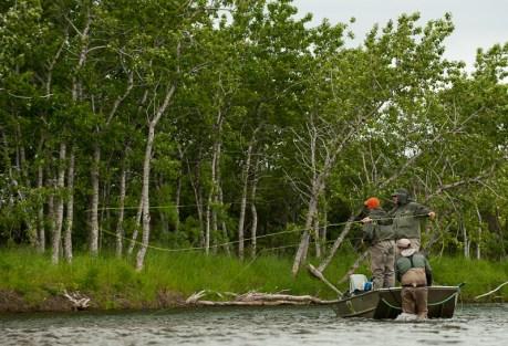 Classic Alaskan angling.  Photo: Cameron Miller