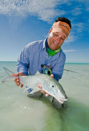 Nice bonefish too.  Photo: Louis Cahill