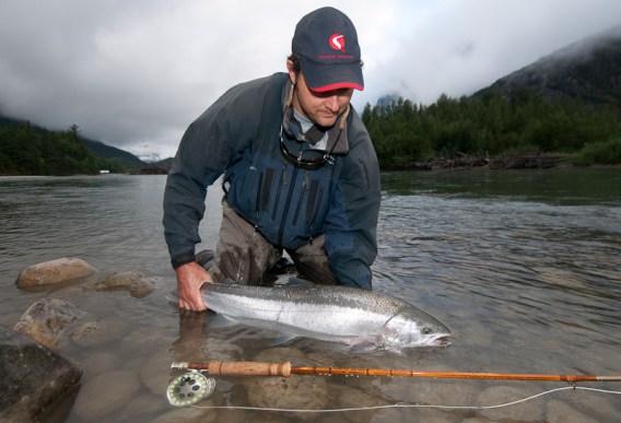 This fish ate on the hangdown. Nice rod, John.