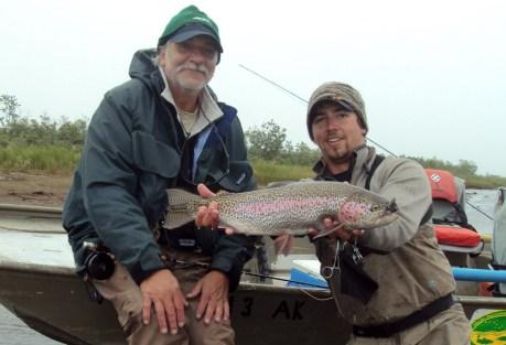 Trevor, Trevor's dad, trout, sculpin.  Photo: Brian Niska