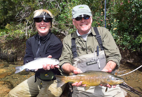 Chile Brown Trout Rainbow Trout