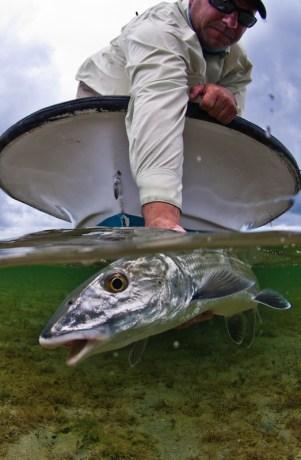 Bonefish Skiff Angler Water