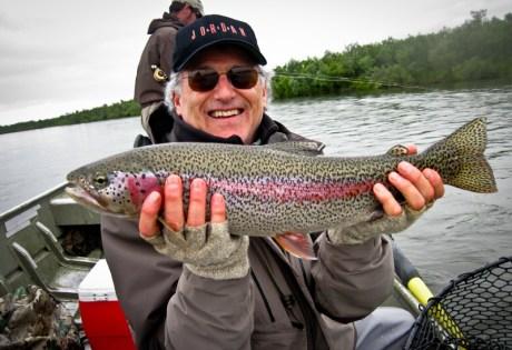 Alaska Rainbow Trout from Boat