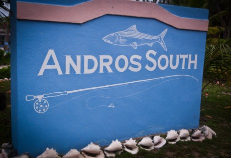 Andros South Lodge Sign