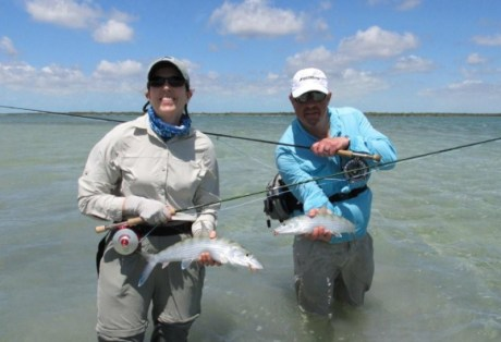 George and Jen with some South Andros Bonefish