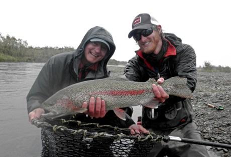 Big Rainbow Trout at Alaska West