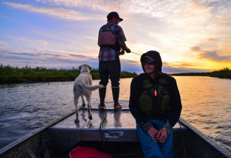 Fly Fishing with Dogs in Alaska