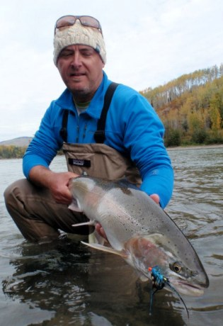 Fly fishing for steelhead