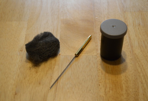 How to make a bodkin cleaner for fly tying.