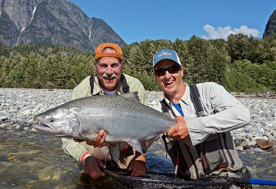 Fly Fishing for Dean River Chinook at BC West