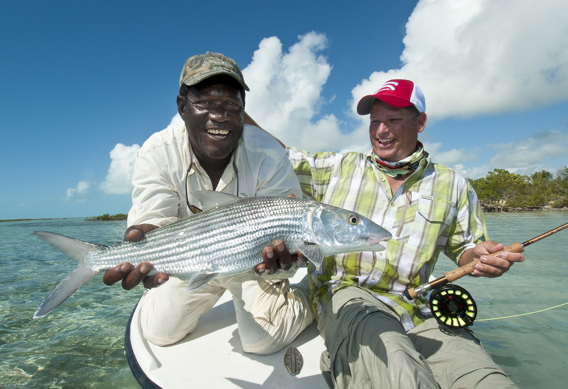 Fly Fishing for bonefish at Andros South by Louis Cahill Photography