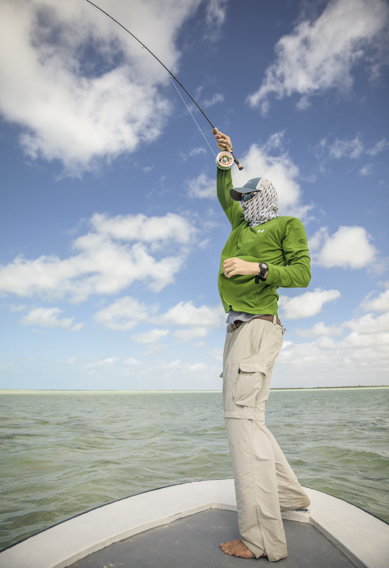 Fighting Bonefish at Andros South