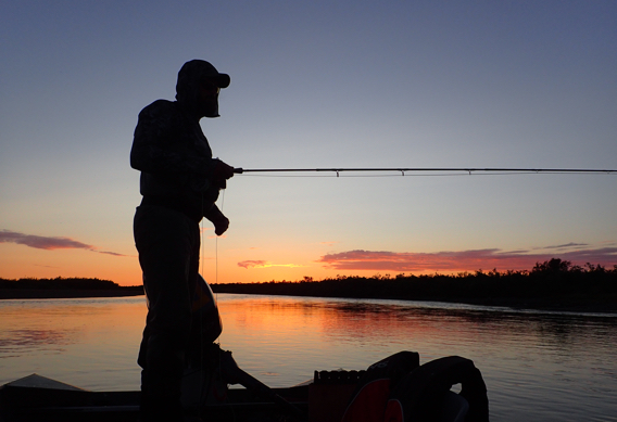 Fly fishing Silhouette at Alaska West.