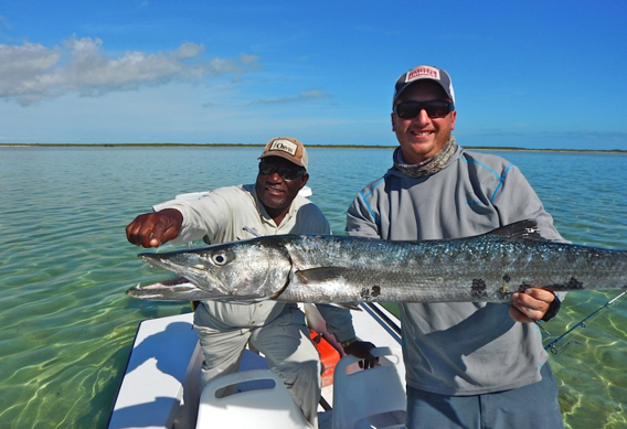 Fishing for barracuda.
