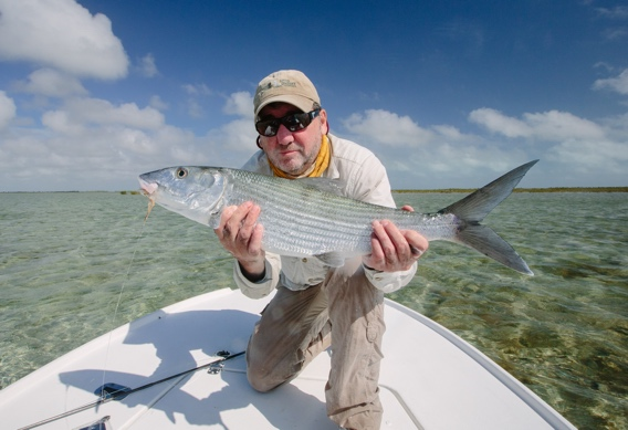 Big Bonefish from Andros South Bonefish Lodge.