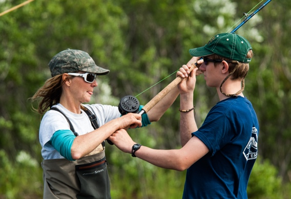 Spey casting instruction at Alaska West by Tosh Brown Photography.