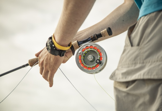 Retrieving the fly for bonefish by Hollis Bennett.