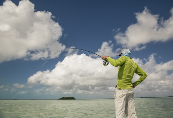 Fly fishing for bonefish by Hollis Bennett.