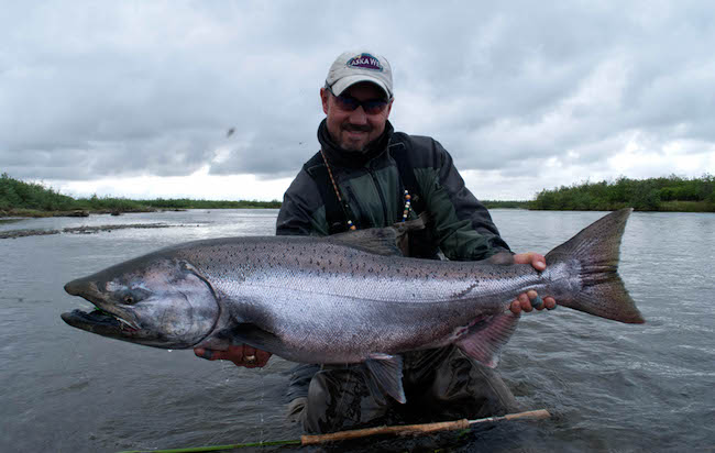 Spey Fishing for King Salmon at Alaska West.