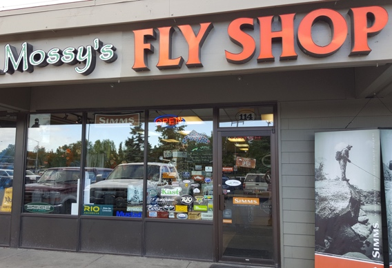 Mossy's fly shop in Anchorage, Alaska.