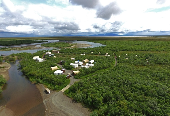 Alaska West camp from above.