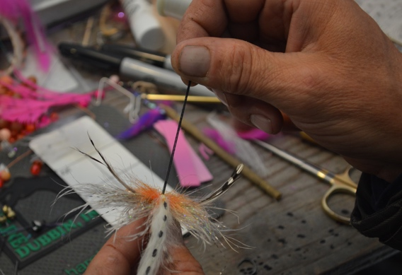 Rigging stinger hook style flies.