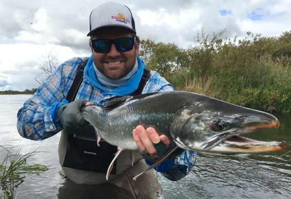 Fly fishing for dolly varden/arctic char