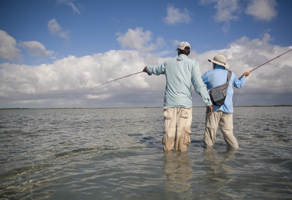 Fly fishing for bonefish at Andros South by Hollis Bennett.