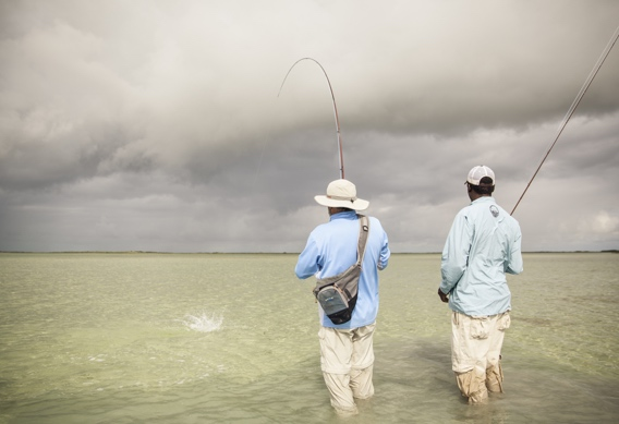 Fly fishing for bonefish by Hollis Bennett